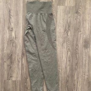 Khaki green high waisted leggings
